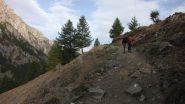 il primo tratto del sentiero sopra Troncea (28-9-2013)