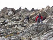 ultimo pendio-risalto prima della cima del Ghinivert (28-9-2013)