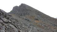 la dorsale SO del Bric Ghinivert dove sale il sentiero (28-9-2013)