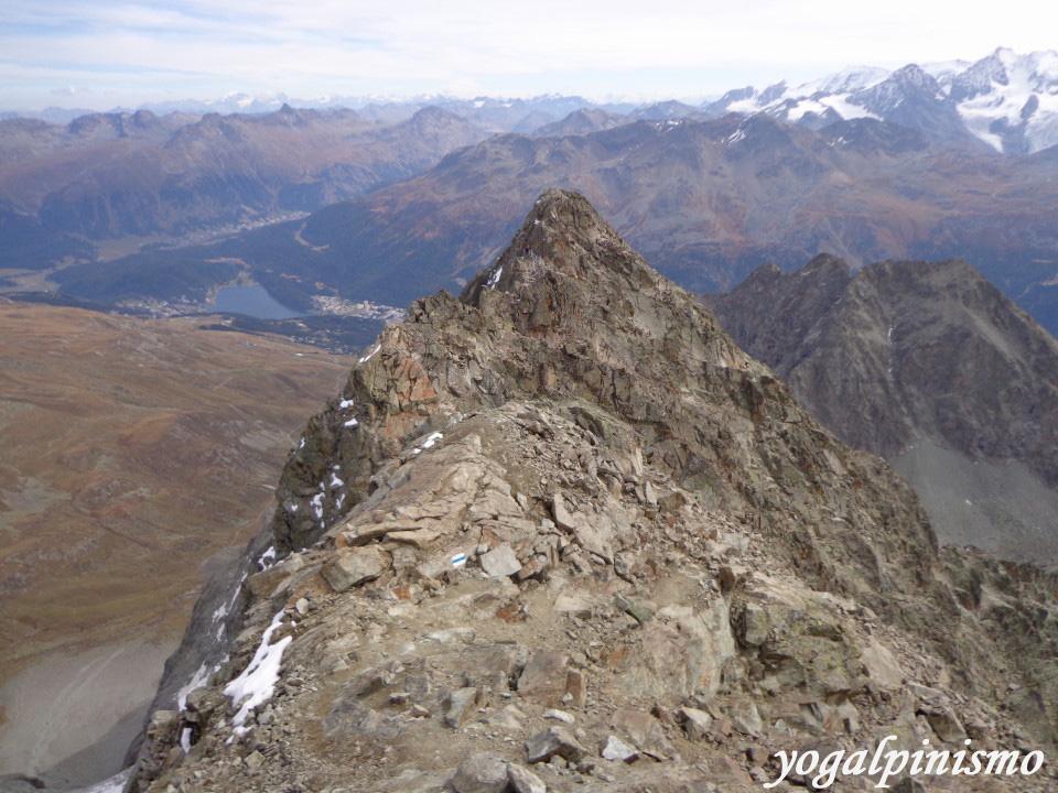 dalla vetta vista su Saint Moritz