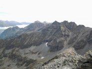 Spartiacque Stura-Orco, Corno Bianco e piu' lontano Bellagarda e Unghiasse