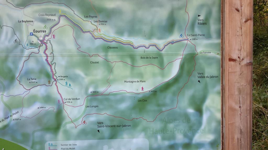 Montagne de Mare anello da Eourres 2013-10-03