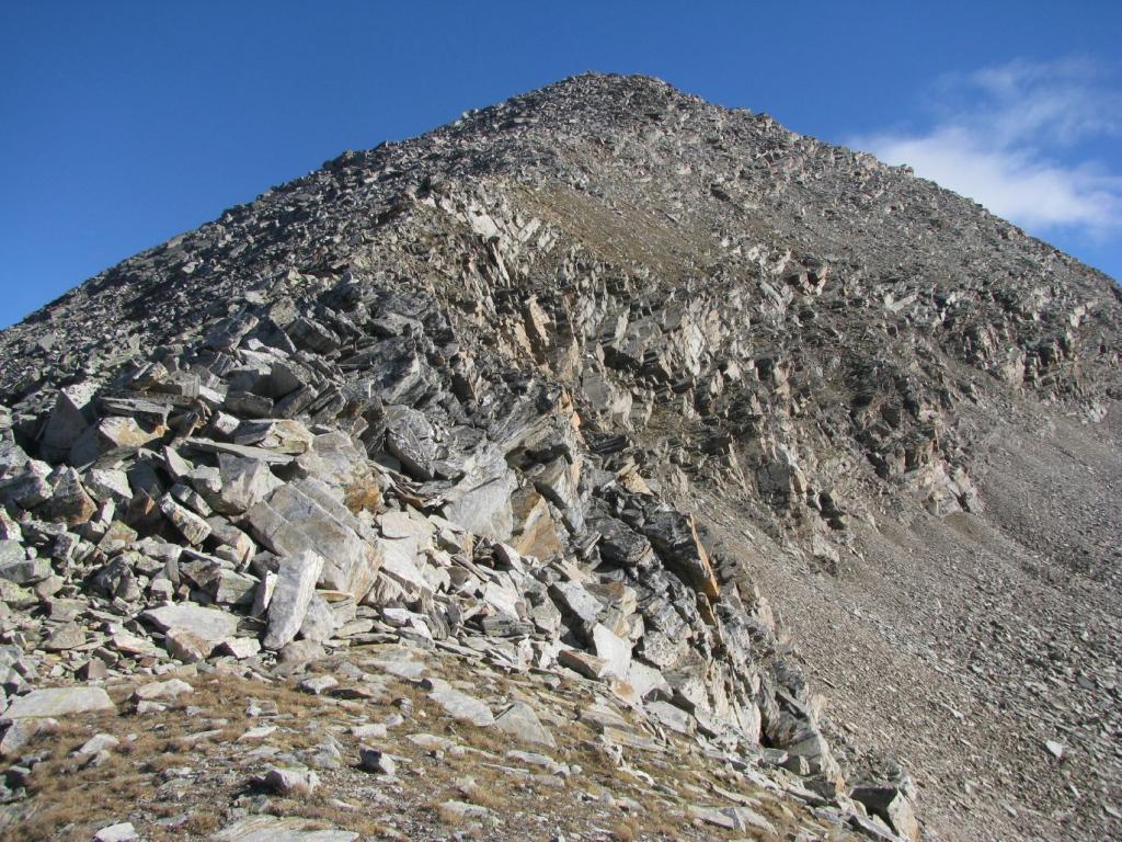 In cresta verso la Punta Violetta