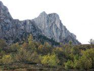 la cima ,dal sentiero appena sopra Pian Marchisio