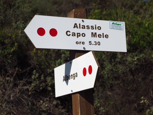 Un nuovo cartello sopra Albenga