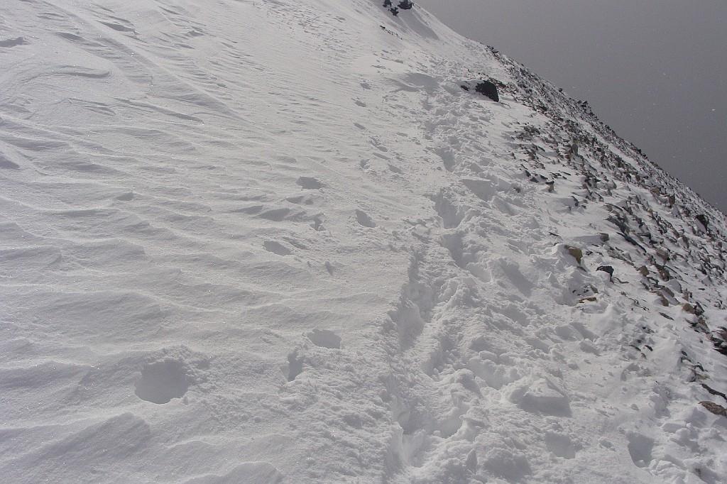 in alcune zone neve alta