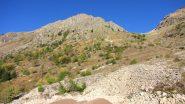 Monte Laroussa e vallone di salita osservati da San Bernolfo (12-10-2013)