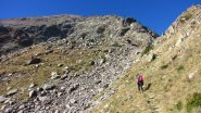 ultimo tratto del sentiero per il Passo di Laroussa (12-10-2013)