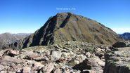 una parte della pietraia attraversata e il Monte Saletta (12-10-2013)