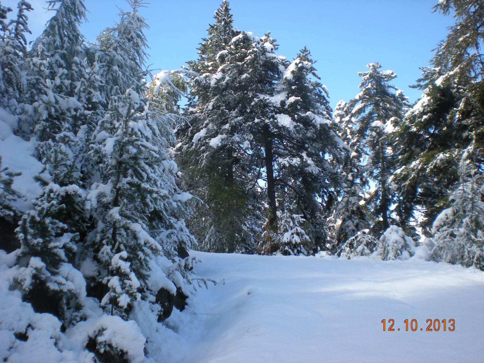 nevicata precoce sopra Cloutraz