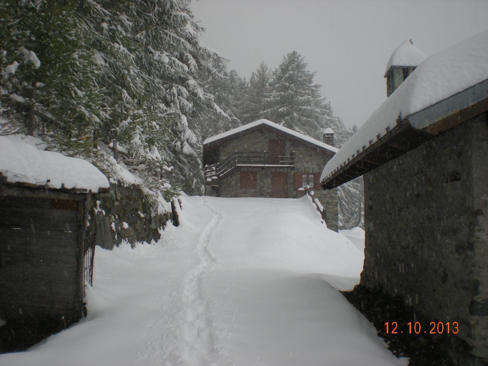a Valmeriana la neve comincia ad essere abbondante ed il temp cambia...