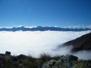 mare di nubi a 1900 m circa
