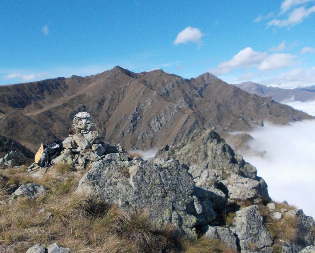 dalla cima ,vista sul Grum