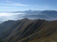 La lunga cresta vista dalla cima dell'Aquila