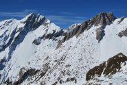 La Grande Rochere, il Monte Bianco e l'Aiguille de Bonalex