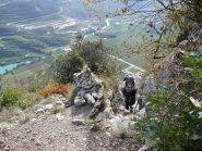Torretta di pietre che indica la metà del percorso
