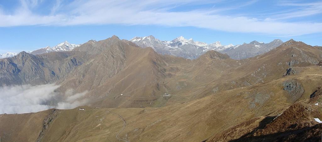 panorama verso l'alta valle di lanzo