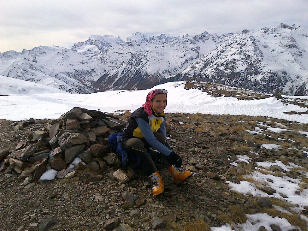 La Pina e dietro il Palu e il Bernina