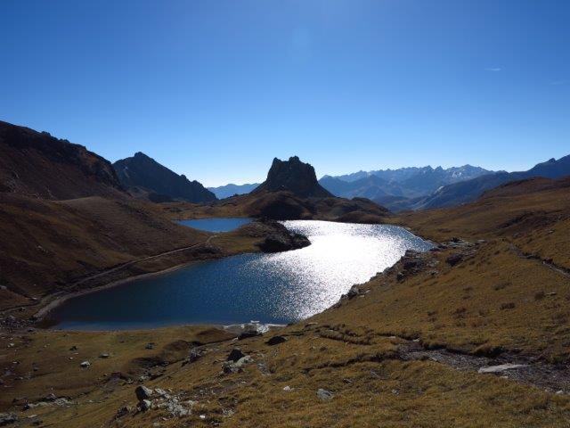 Lago superiore di Roburent dal colle