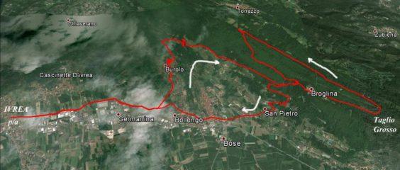 Broglina - percorso