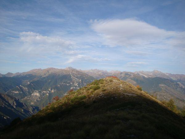 Monte Bego e Alpi Marittime dalla Cresta di Rionard