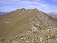 La bella cresta di confine vista dalla Cima Ventosa