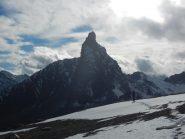 La Roc de la Niera 3177 m scendendo dalla Rocca Bianca