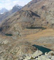 il lago piccolo, il grande e il lago blu salendo al ciarm del prete