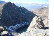 Il suggestivo lago gelato ai piedi dell'Iverta..dall'Invers..