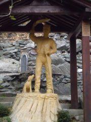 Scultura all'alpe d'Arnas