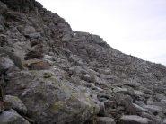 via di salita alla cima lago versante valsesiano
