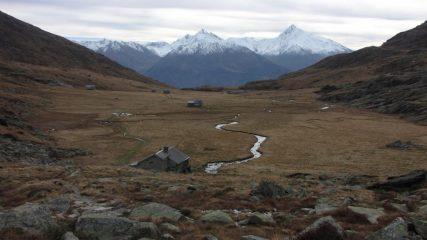 il grande pianoro del Fond de l'Aussois visto dal rifugio omonimo (1-11-2013)