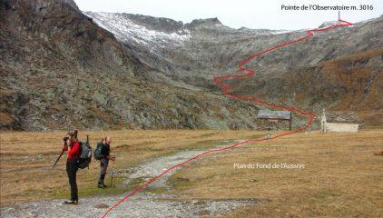 pianoro del Fond de l'Aussois e restante via di salita alla cima (1-11-2013)