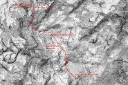 mappa IGN e via di salita alla cima