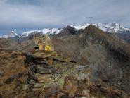 Gran panorama in prossimità della cima
