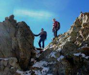 Enzo e Paolo al Passo sotto la Chamineyes