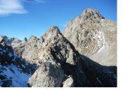 Al centro la Cima Montolivo e piu' a dx la Chamineyes..scendendo alla Breche Montolivo..