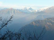 Verso Zerbion, Cervino, Breithorn da un punto panoramico della dorsale
