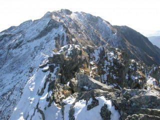 La cresta sud-est verso la Cima Bonze