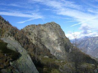 Monte Bo, all'estrema sinistra il canale di salita