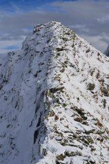 la cresta per la Cima Dora vista dal passo