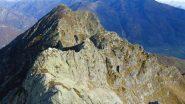 cresta percorsa,in fondo il Bec Renon