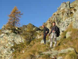 Salendo al Renon con Franco e Stefano