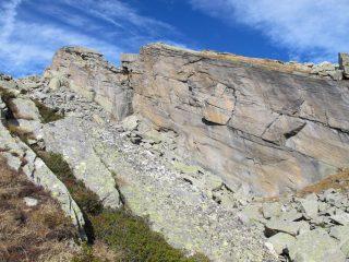 Il salto sulla cresta SE della Pian Spigo
