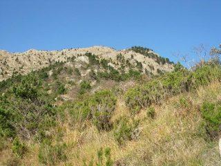 Il Monte Rama visto dal sentiero di discesa