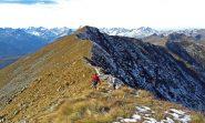 Sulla cresta verso il Vaccarezza
