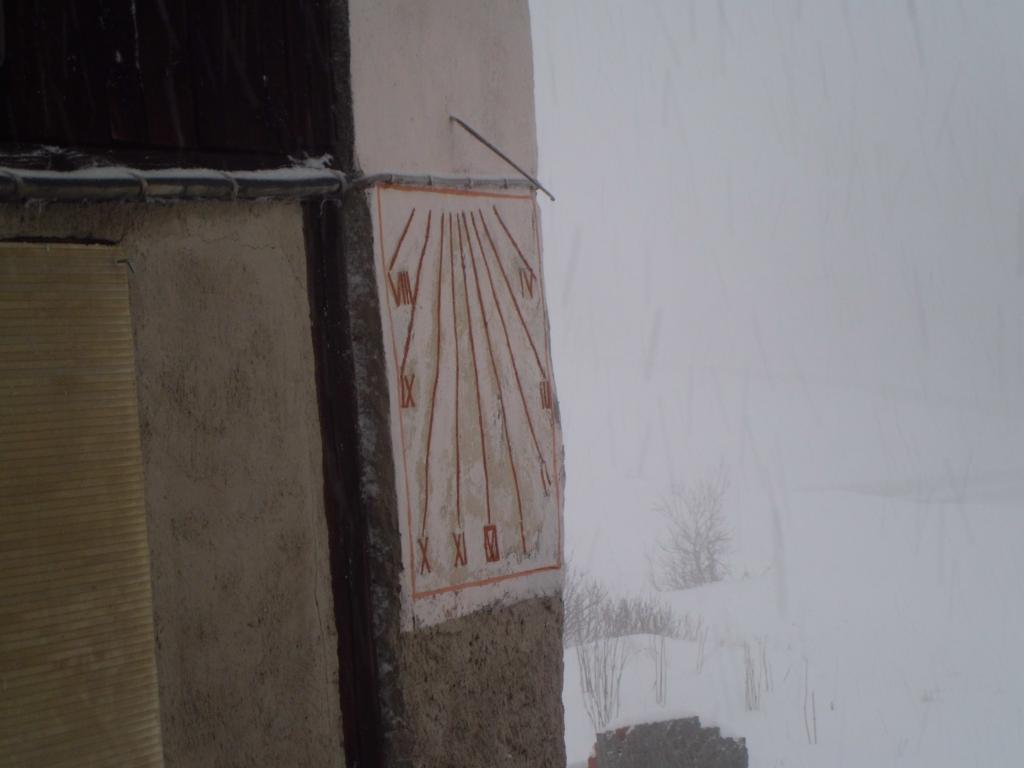 Meridiana sotto neve