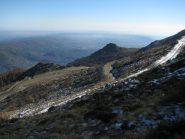 In discesa verso l'Alpe Ugiasso