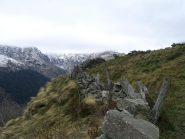 Muretti di contenimento nei pressi delle Alpi Reje
