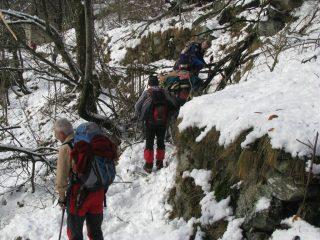 Rallentamento a Perebella per ostacolo su sentiero